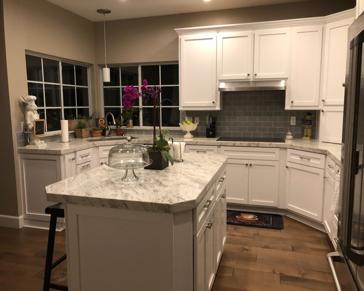 after refacing kitchen cabinet