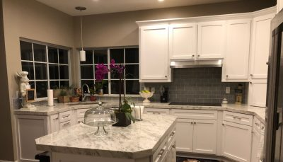 White color Custom Cabinet & Refacing SHAKER