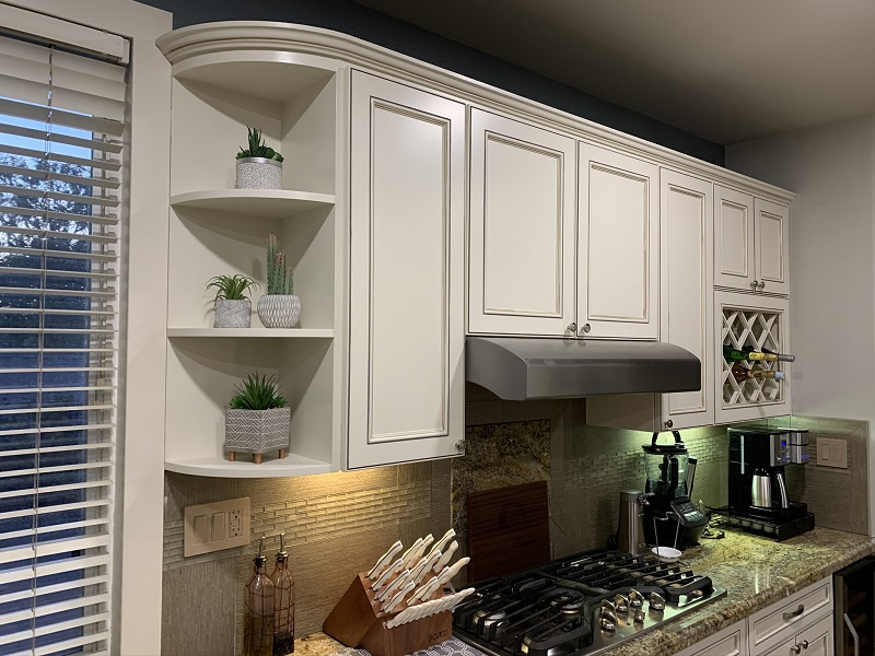 after refacing cabinet