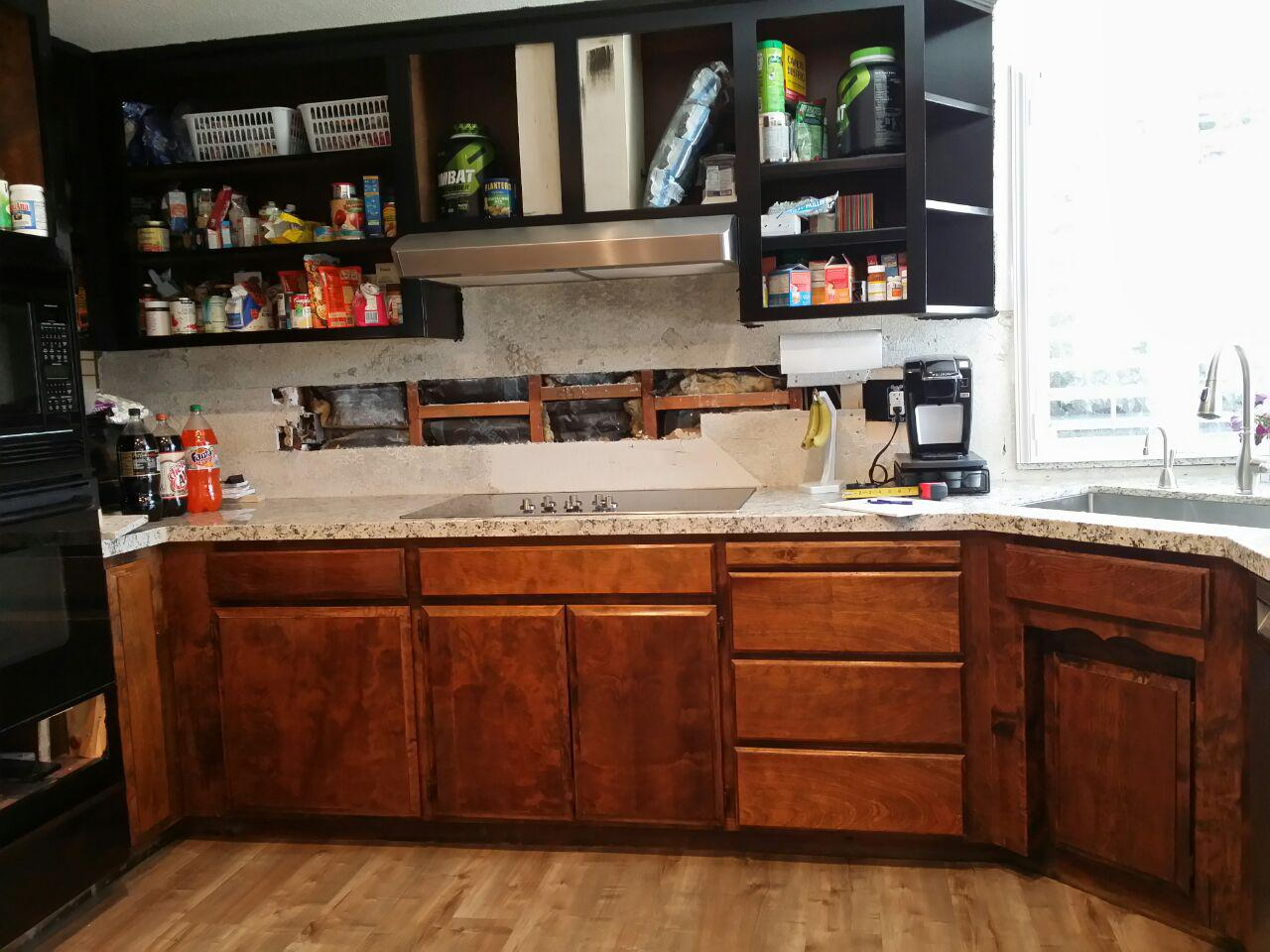 before refacing cabinet