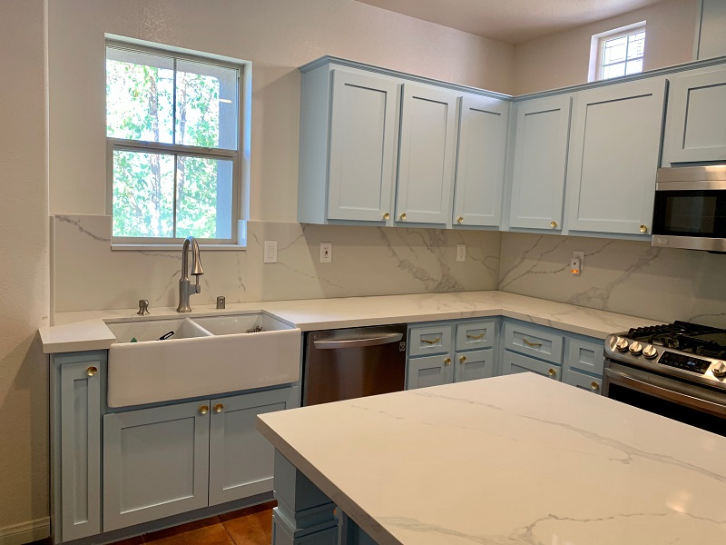 White color Custom Cabinet & Refacing